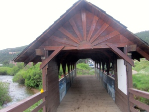 Covered bridge over Boulder Creek in Nederland