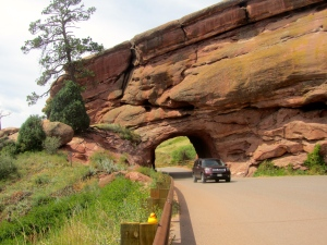 Drive through Red Rock tunnel to visit theater
