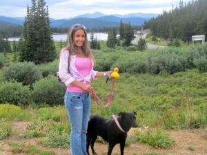 Ready to hike at Echo Lake