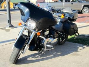 Zeb on motorcycle