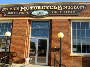 Zeb at Motorcycle Museum in Sturgis, SD