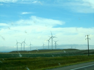 My first Montana wind farm in Judith Gap