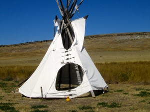 Tipi at buffalo jump