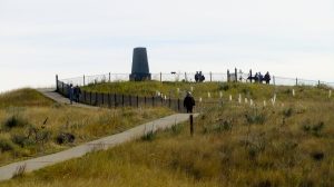 Last Stand Hill with memorial