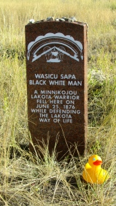 Marker for Lakota warrior