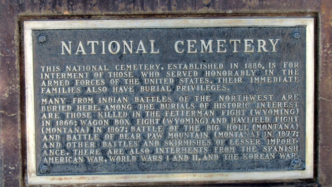 National cemetery at Little Bighorn Battlefield