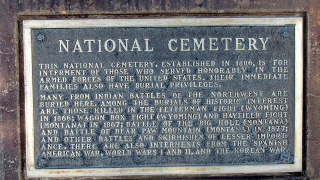 National cemetery at Little Bighorn Battlefield