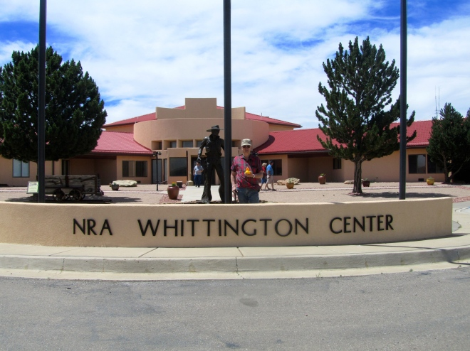 NRA Whittington Center at Raton New Mexico.  Zeb and Alaska uncle.
