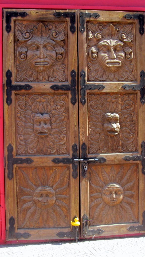 This is a wooden door