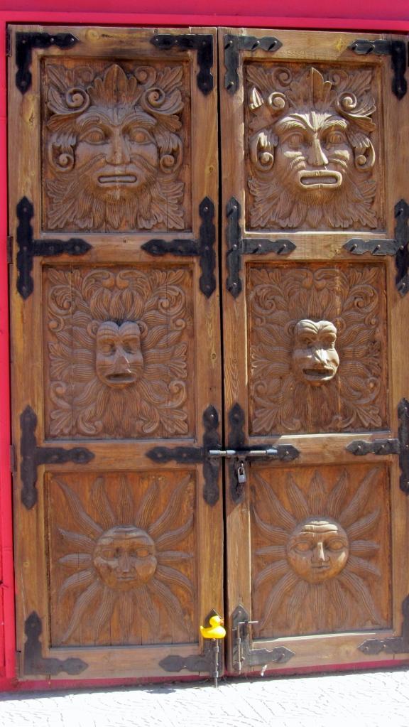 This is a wooden door
