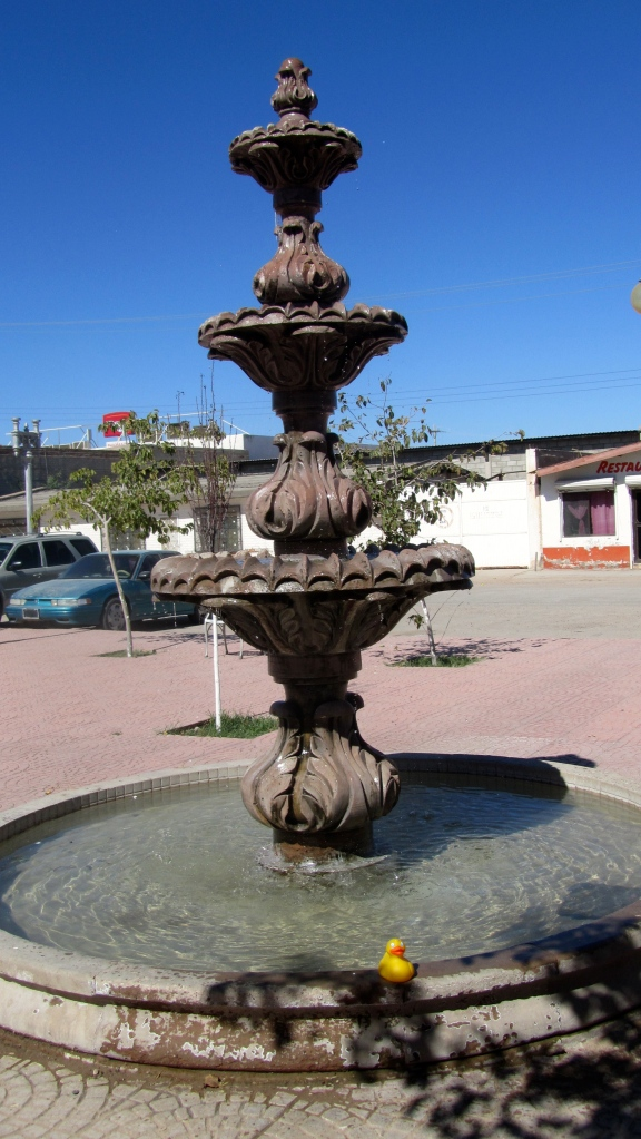 Fountain in Pink Store Plaza