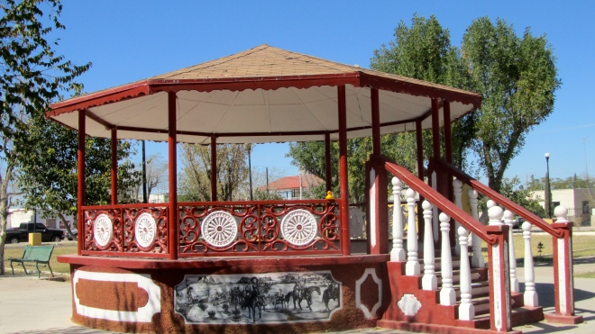 Great gazebo in plaza
