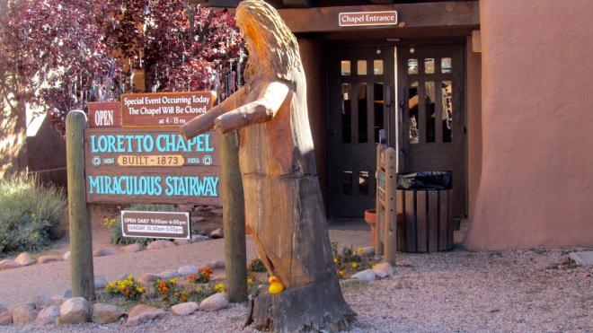 Loretto Chapel is famous in Santa Fe