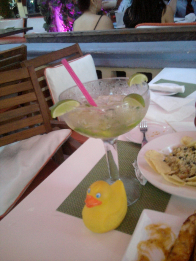 This drink is bigger than Zeb the Duck!