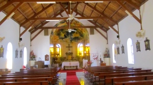 Inside Sacred Heart Church in Saba