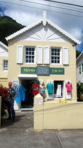 Shopping in Windwardside in Saba