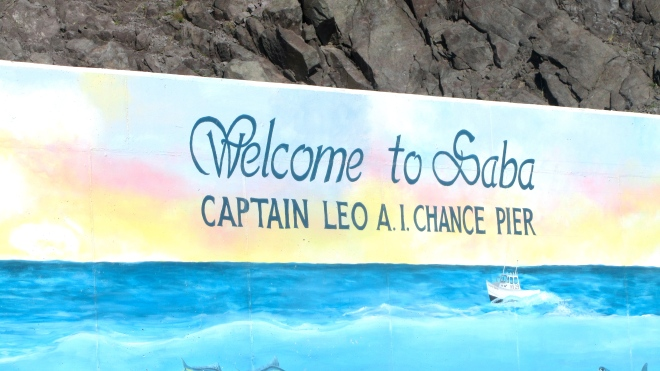 We are docking at Saba