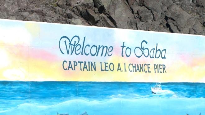 We are docking at Saba