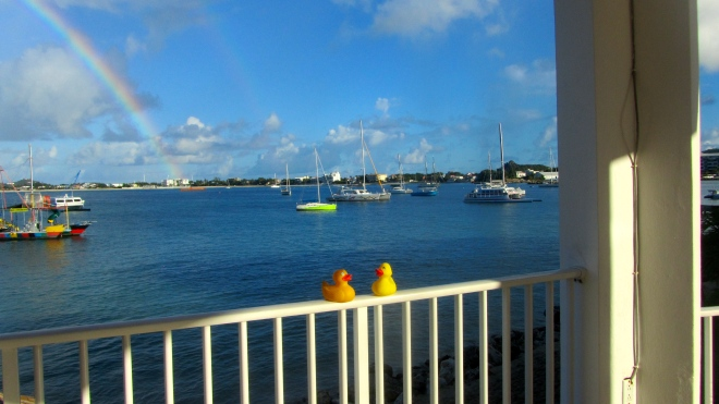 Rainbow over Simpson Bay