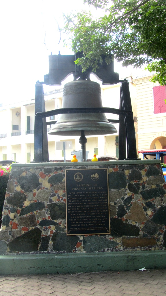 Smaller Liberty Bell and plaque for Virginia Settlers