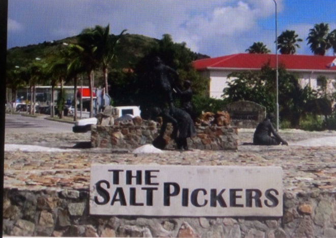 Monument to Salt Pickers in St. Maarten
