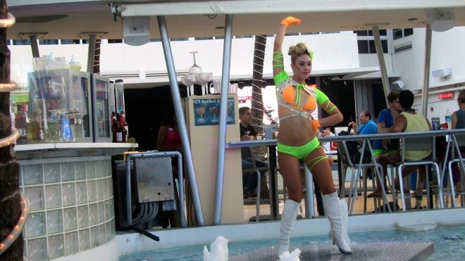Dancer at Clevelander restaurant