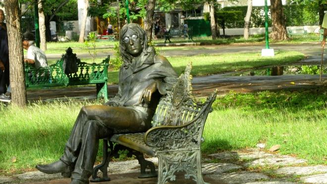 Bronze of John Lennon in Havana, Cuba