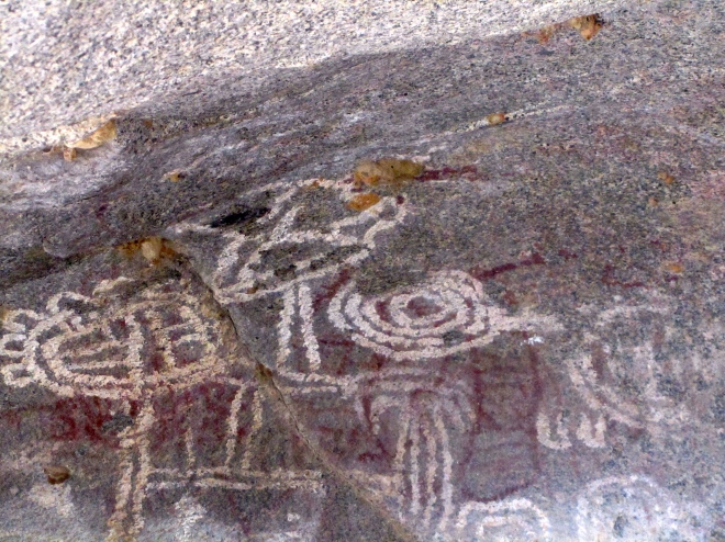 Cave drawings at Ayo Rock
