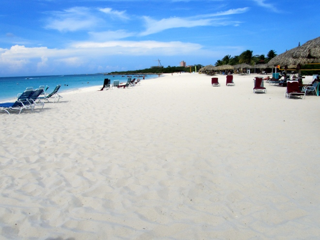 Beautiful Eagle Beach in Aruba
