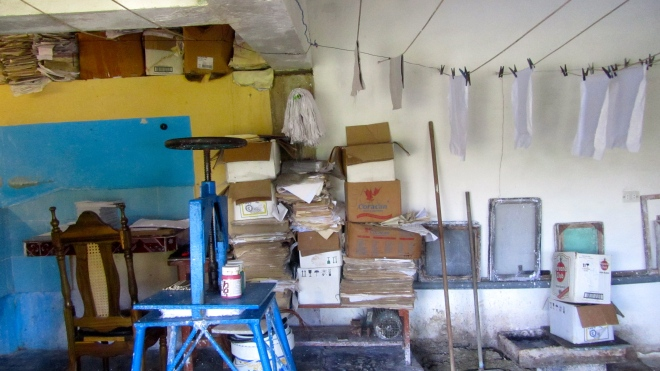 His workshop