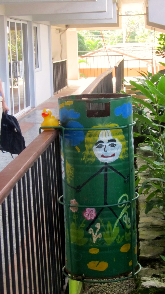 Love the painted trashcan