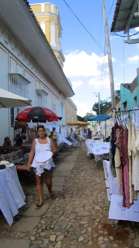 Street market in Trinidad