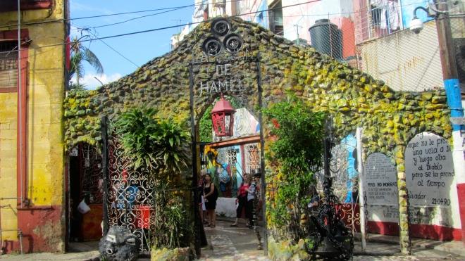 Callejon de Hamel in Havana, Cuba