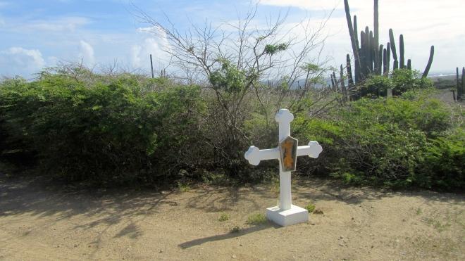 White crosses for Alto Vista Chapel in Aruba