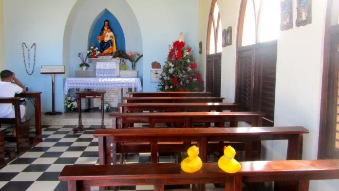 Inside Alto Vista Chapel, Aruba
