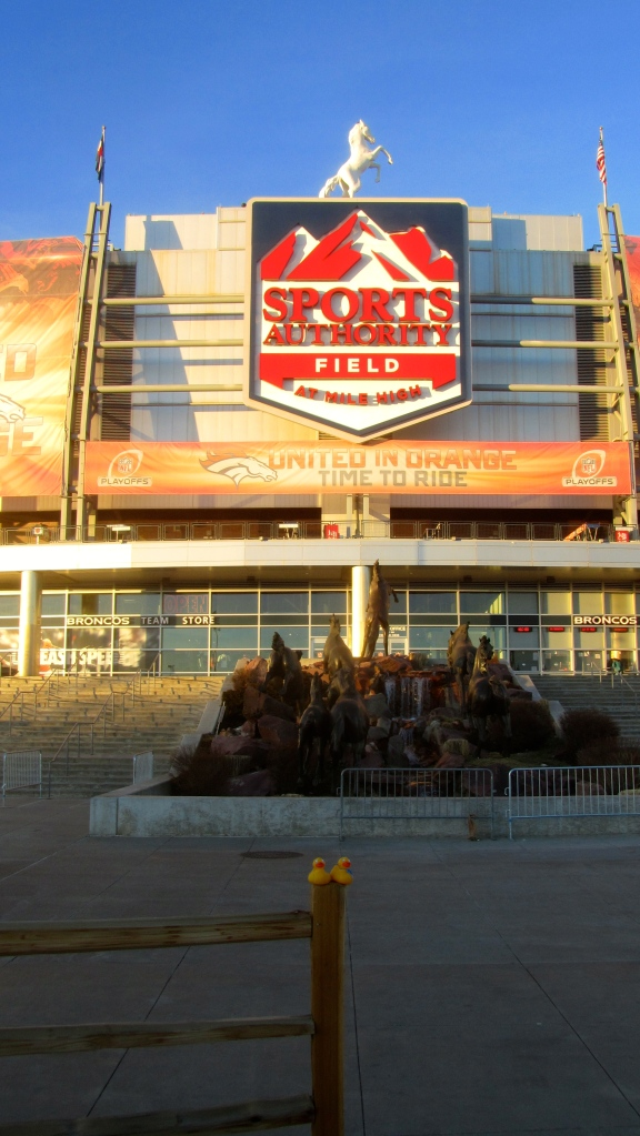 The Broncos play here