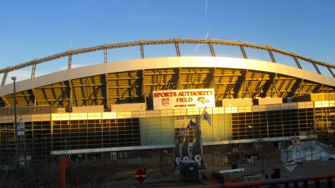 Another view of Denver's football stadium
