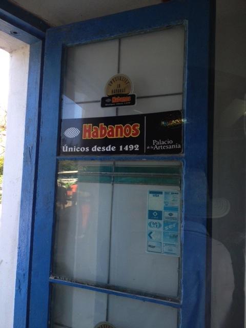 Entering Casa de Habano