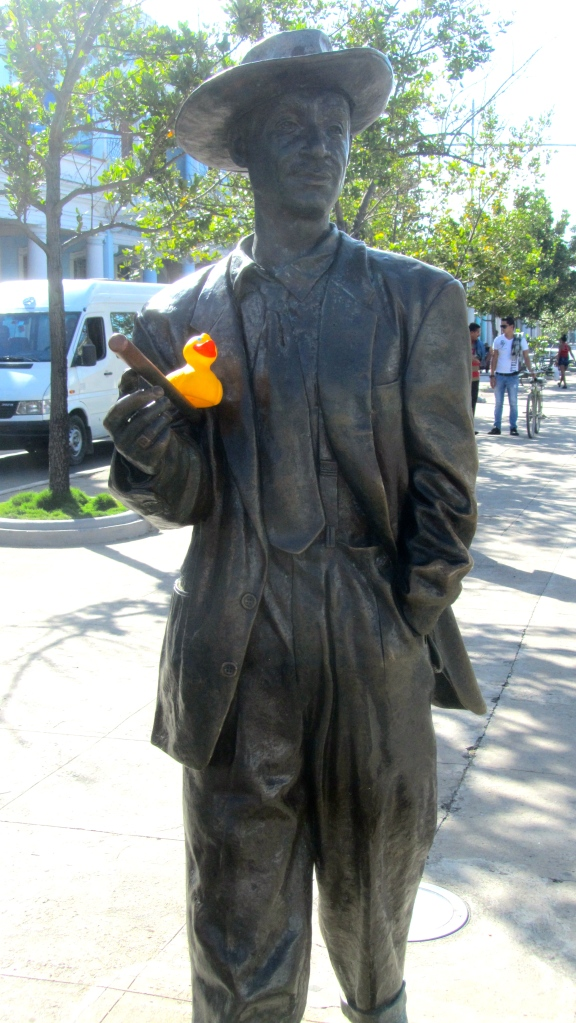 Benny More and Zeb the Duck in Cienfuegos, Cuba