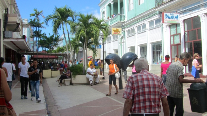 A main street in Cienfuegos