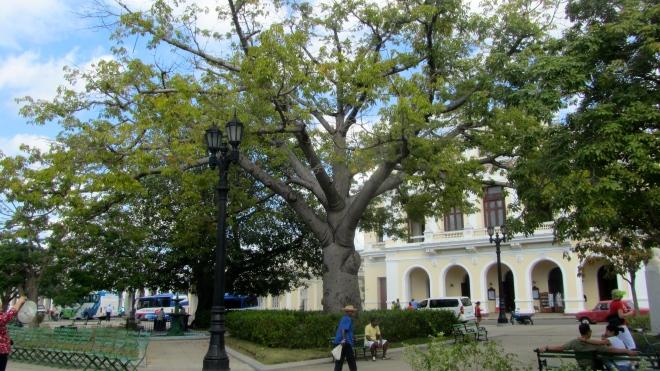 By Jose Marti Park in Cienfuegos