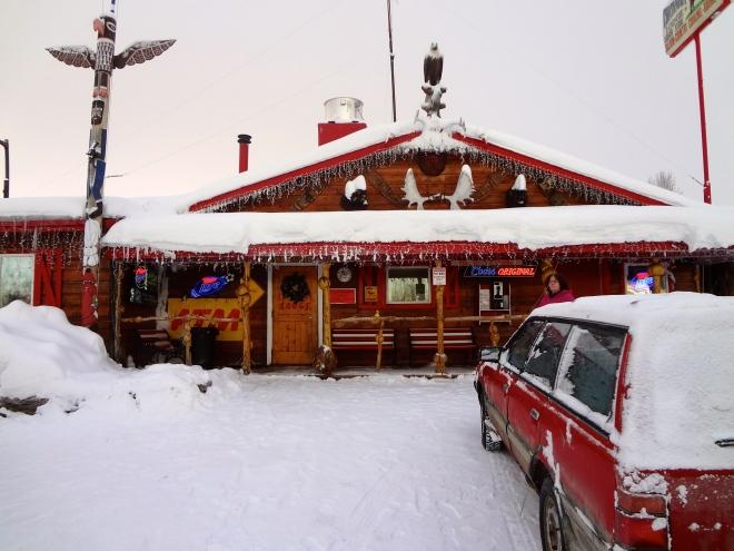 Entrance to Chatanika Lodge