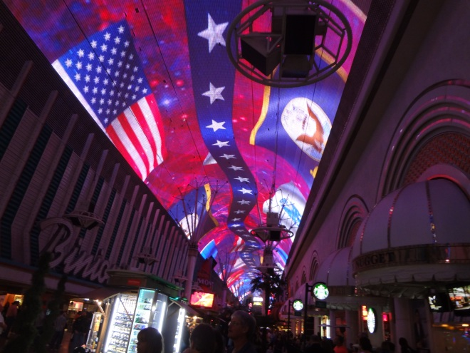 Sound and light show on Fremont Street