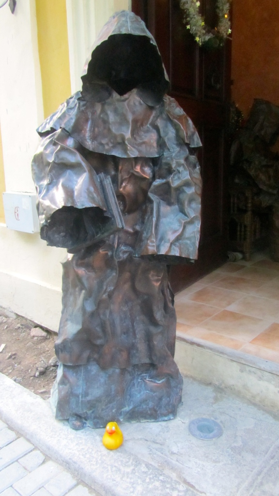 Statue of friar near Havana's Plaza Vieja