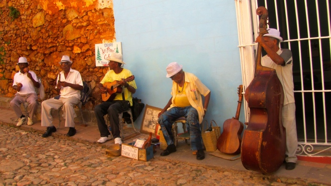 Musicians playing in Trinidad