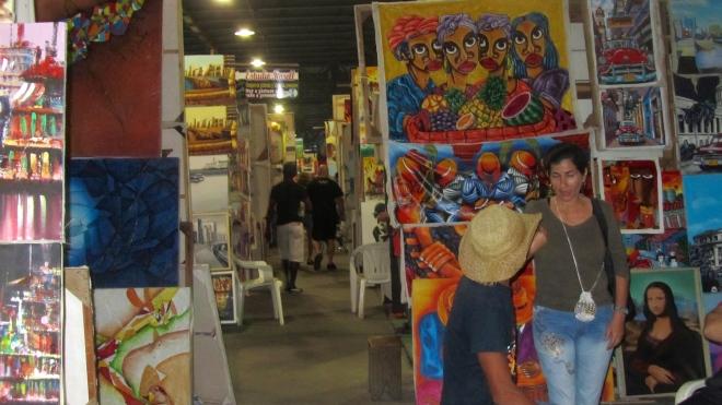 Indoor market in Havana