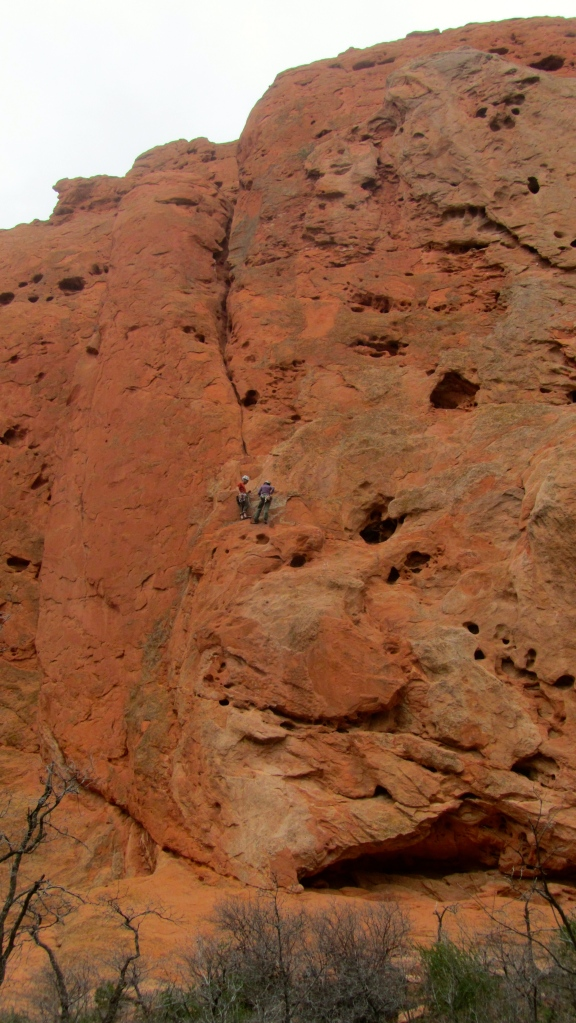 Technical rock climbers