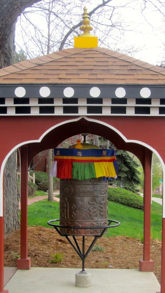 Prayer wheel outside