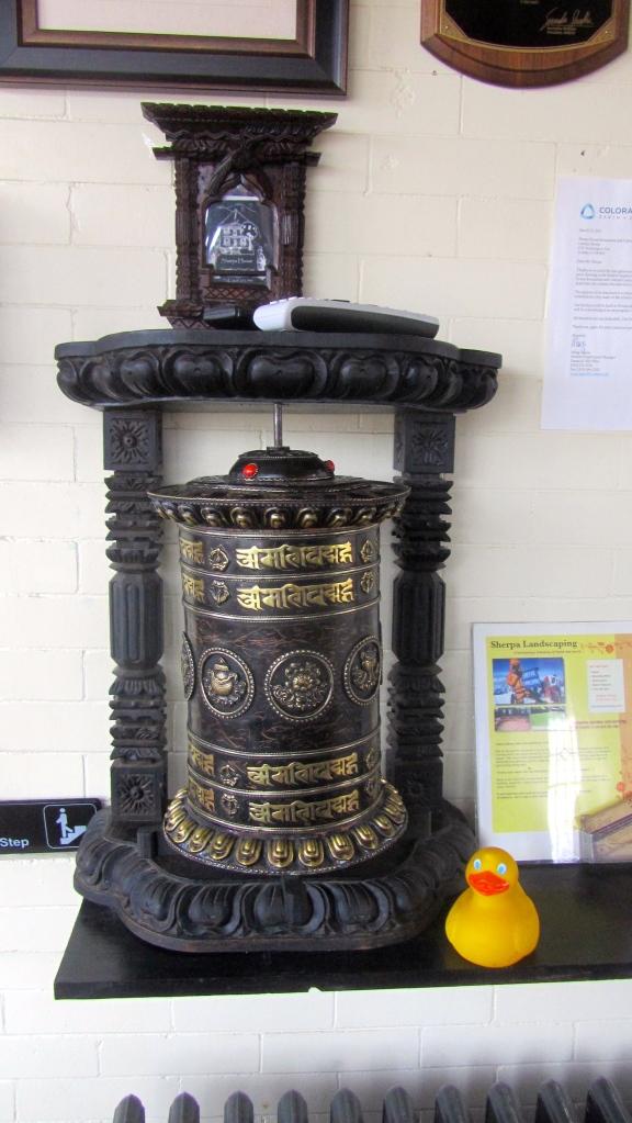 Prayer wheel by main door