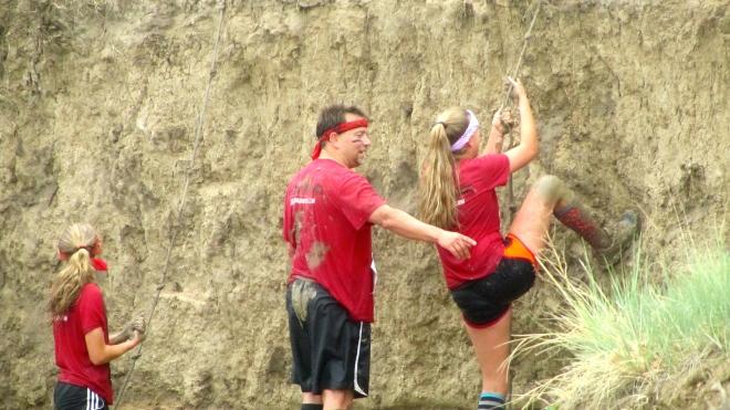 Climb up mud wall